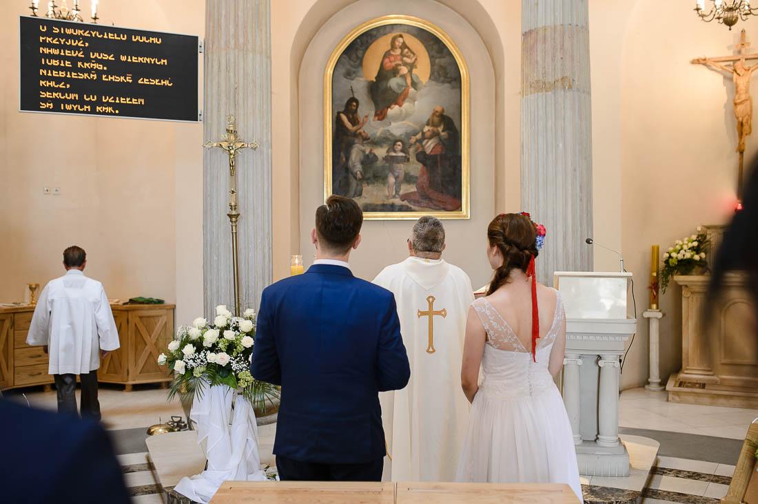ceremonia w kościele przysięga