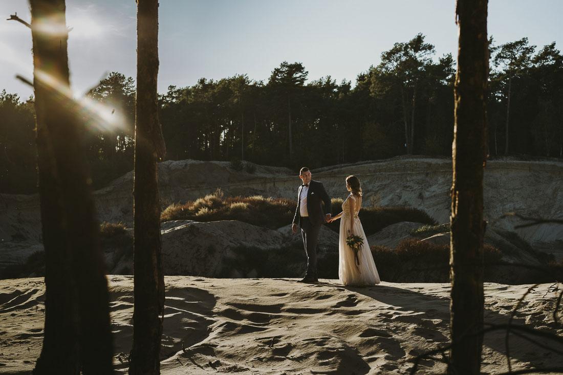 sesja ślubna piaskarnia