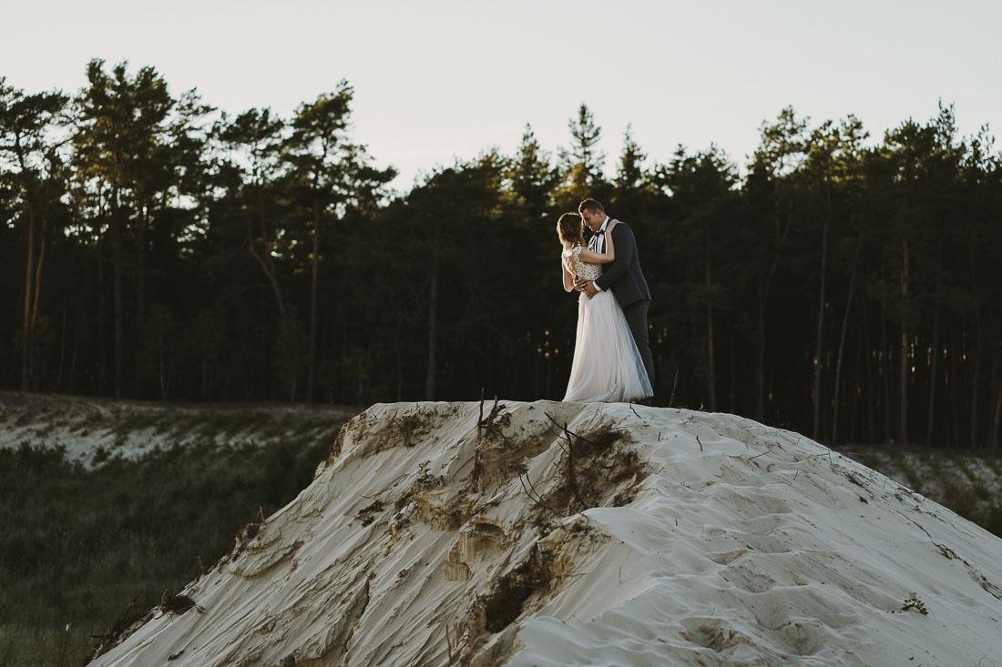 sesja ślubna piasek
